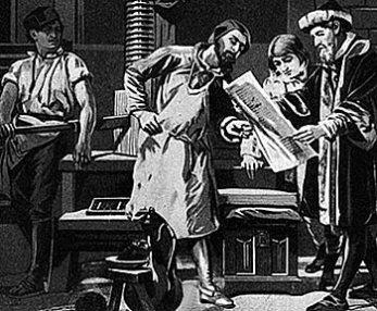 Gutenberg and his printing press